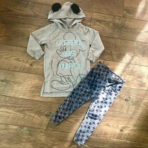 DISNEY Mickey Mouse Swearshirt & Legging Outfit